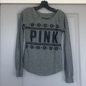 PINK VS gray long sleeve